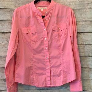 Tommy Hilfiger pink button down shirt